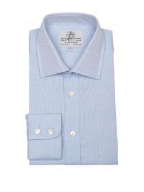 Мужская рубашка большого размера с длинным рукавом синяя Harvie & Hudson приталенная Slim Fit (01J0072BLU)